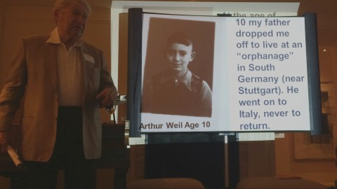 Mr. Weil discussing his time in an orphanage before he was rescued