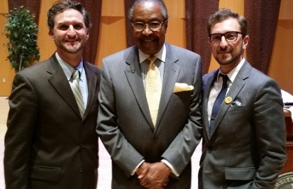 L to R: ADL Director Seth Brysk, Dr. Clarence Jones, and ADL Associate Director Vlad Khaykin